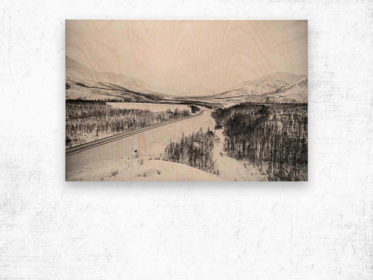 Kolyma Highway in Yakutia Wood print