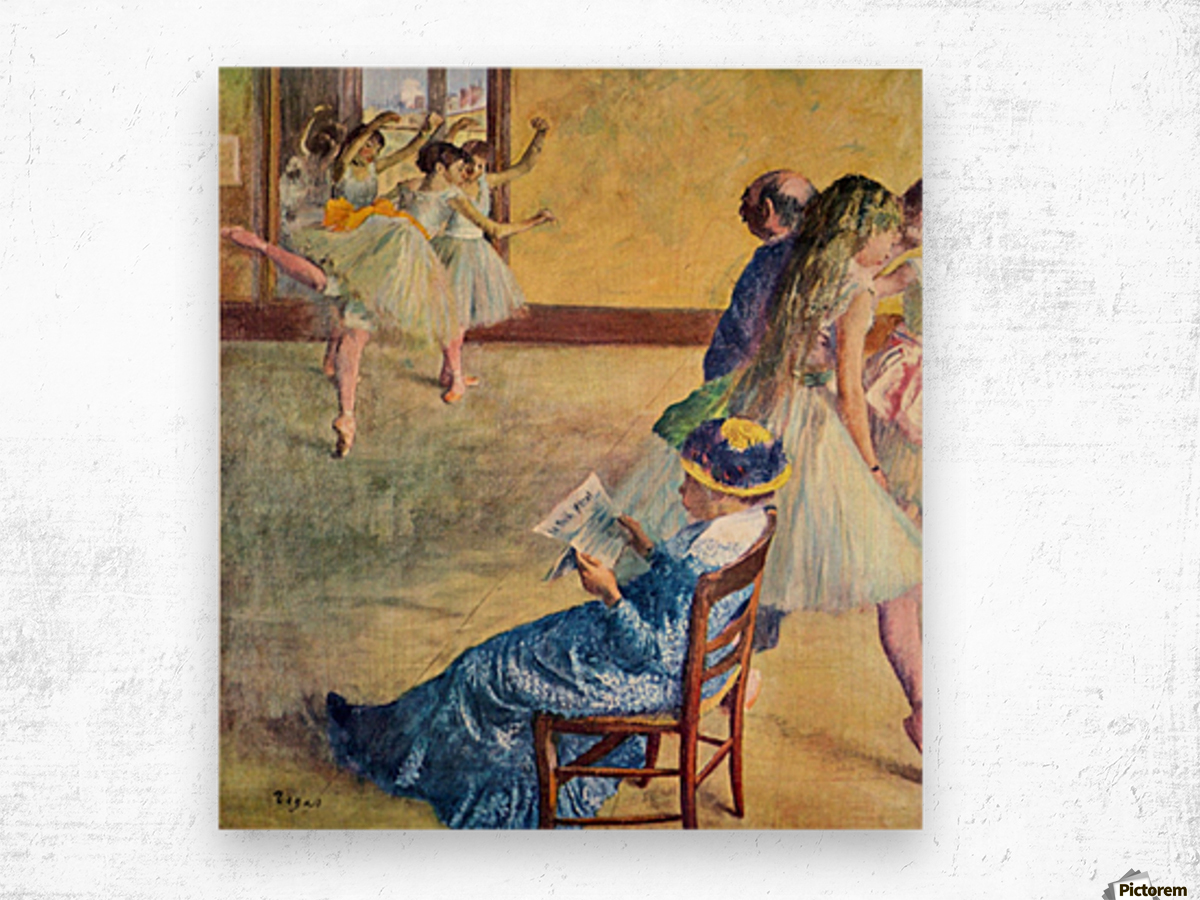 During the dance lessons - Madame Cardinal by Degas Wood print