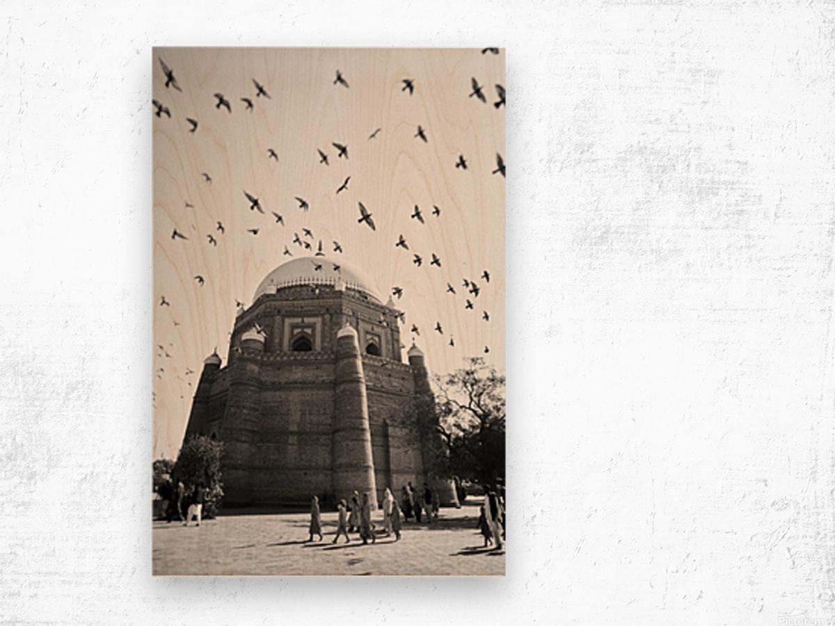 The Tomb of Shah Rukn-e-Alam in Multan Pakistan Wood print