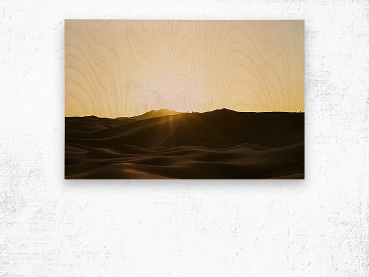 Erg Chebbi at Sunset Wood print