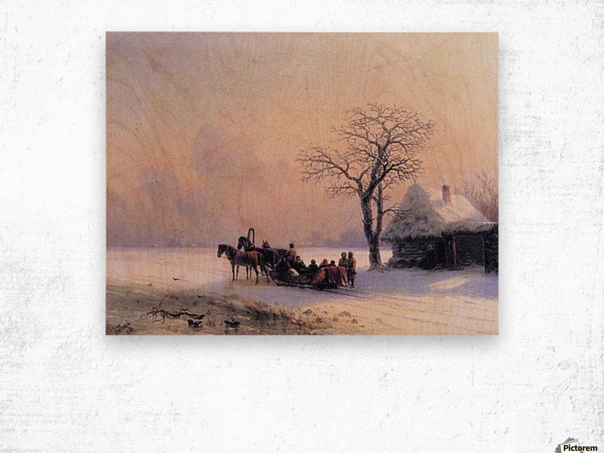 Winter Scene in Little Russia Wood print