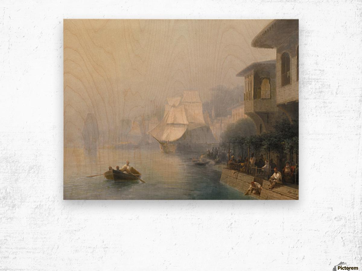 View of the Bosporus Wood print