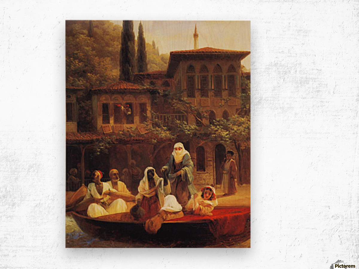 Boat Ride by Kumkapi in Constantinople Wood print