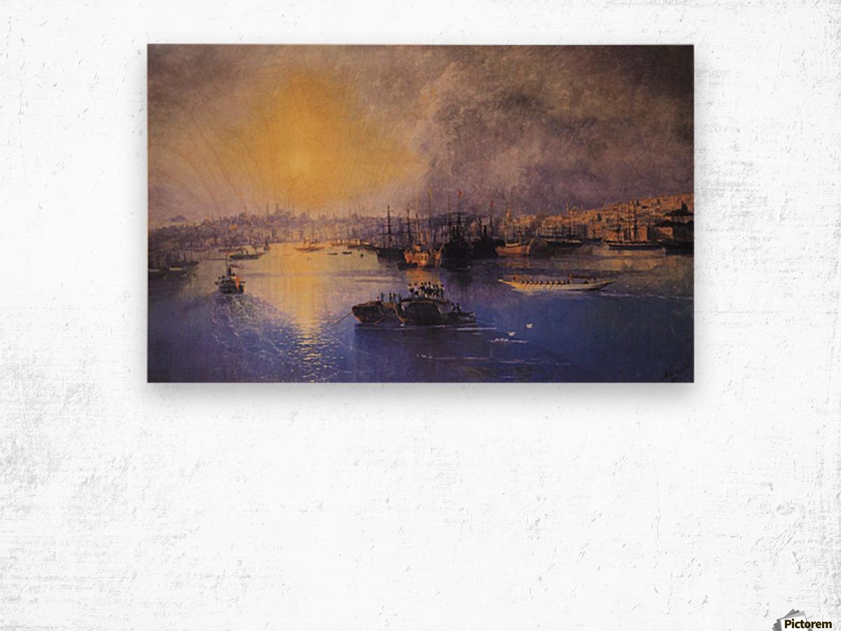 Constantinople Sunset Wood print