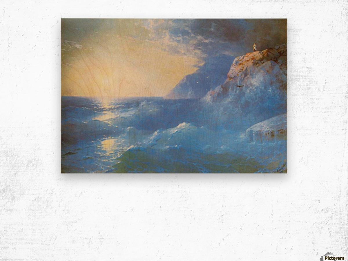 Napoleon on island of St. Helen Wood print