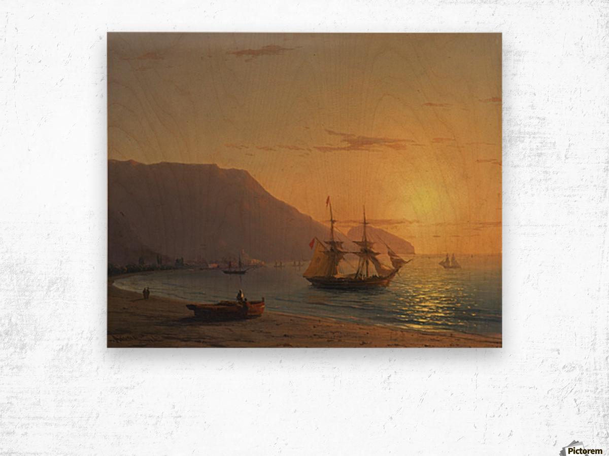 Sunset in Crimea Wood print