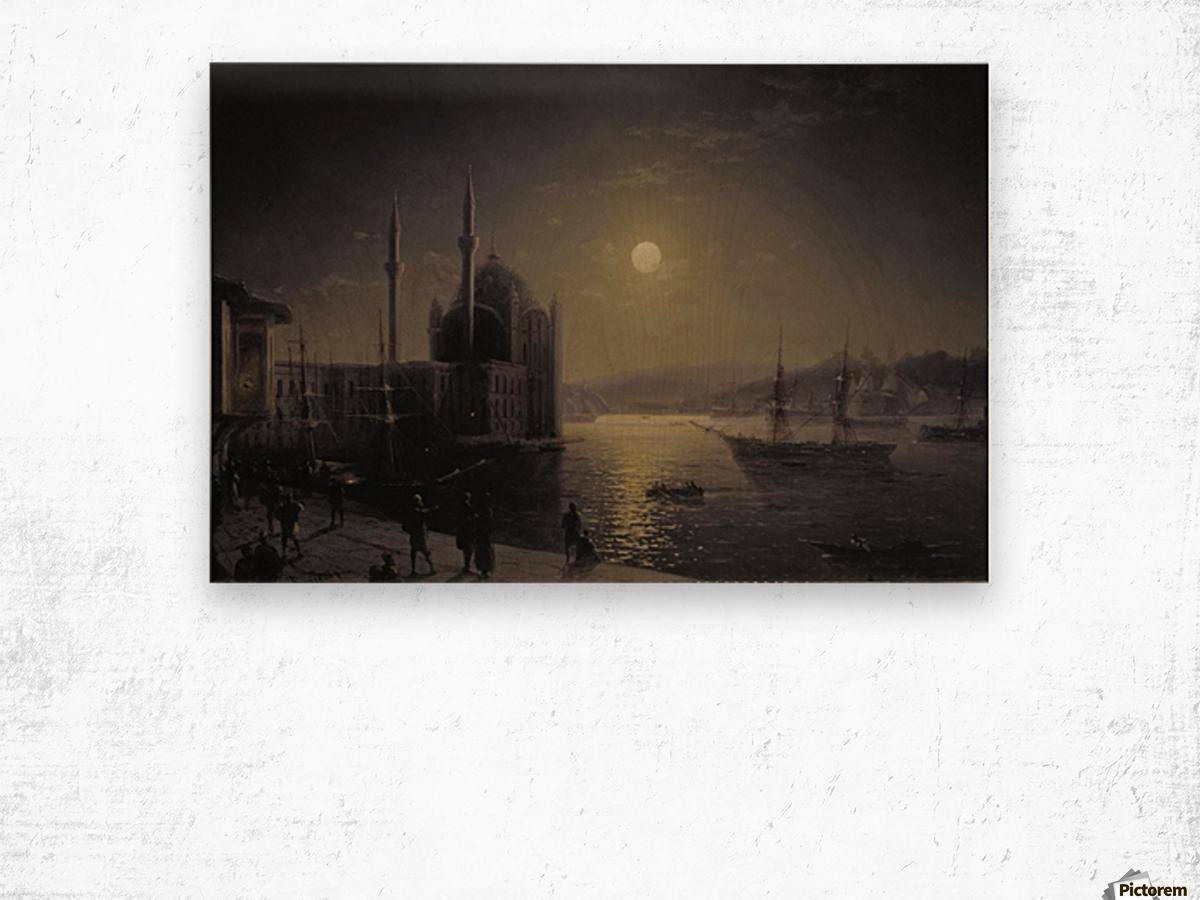 Moonlight on the Bosphorus Wood print