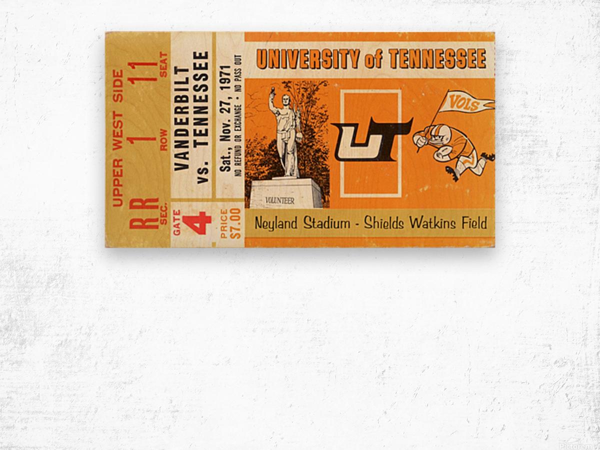 1971 Vanderbilt vs. Tennessee Wood print