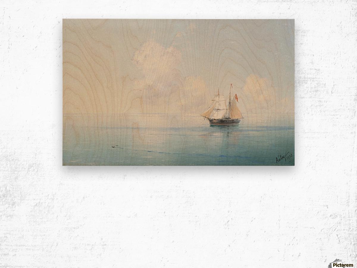 A Calm Morning at Sea Wood print