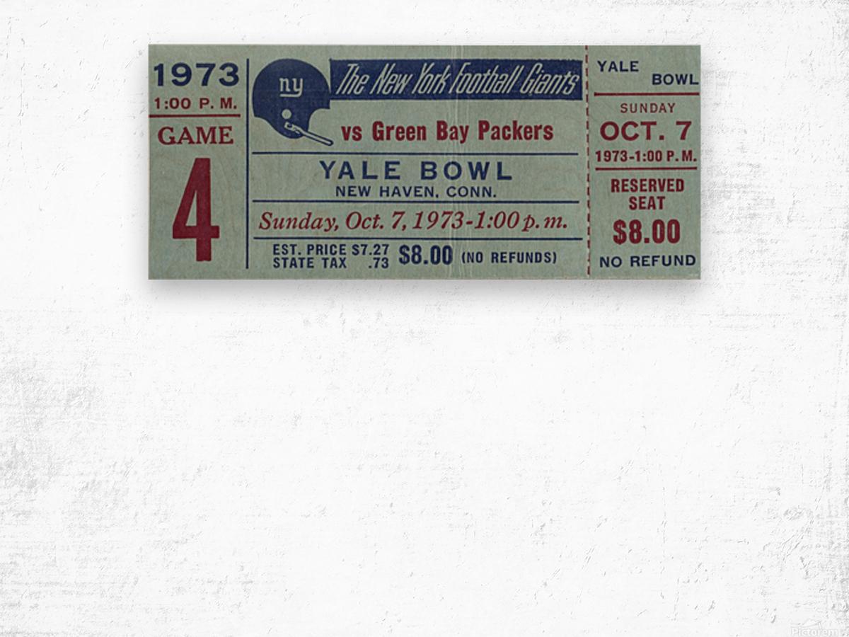 1973_National Football League_New York Giants vs. Green Bay Packers_Yale Bowl_Row One Wood print