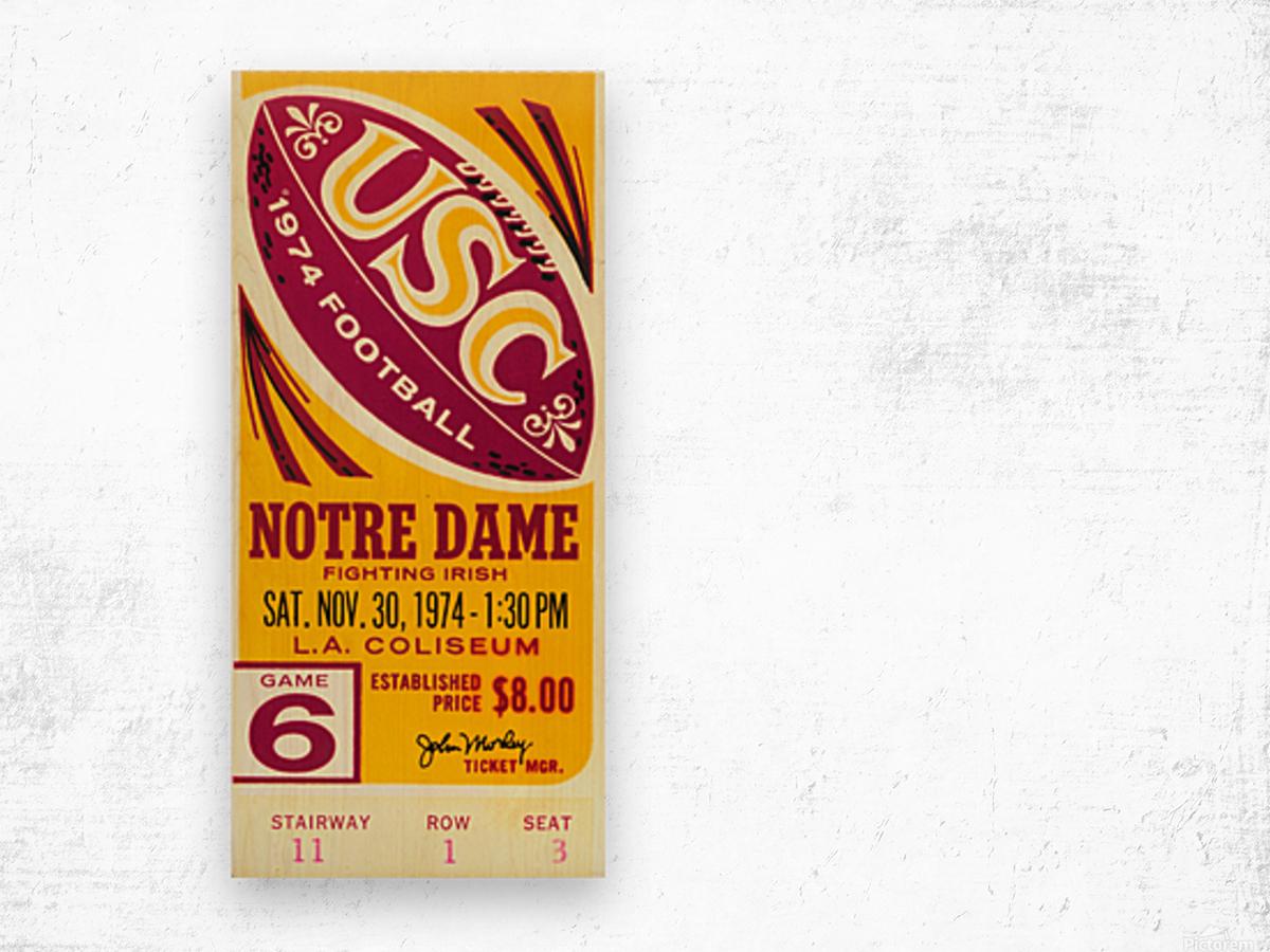 1974 USC vs. Notre Dame Wood print