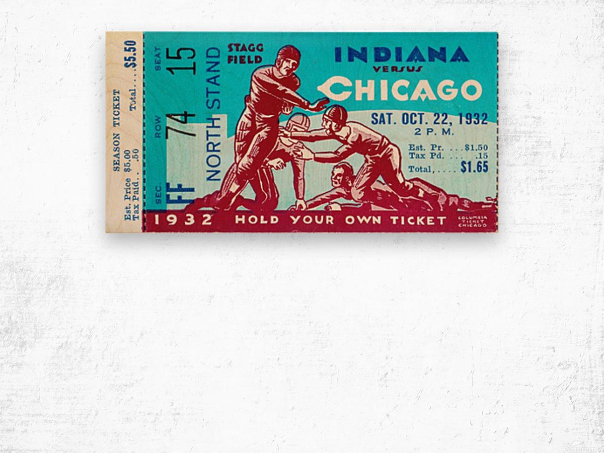 1932 Indiana vs. Chicago Wood print