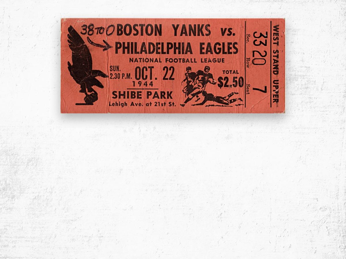 1944_National Football League_Boston Yanks vs. Philadelphia Eagles_Shibe Park_Row One Wood print