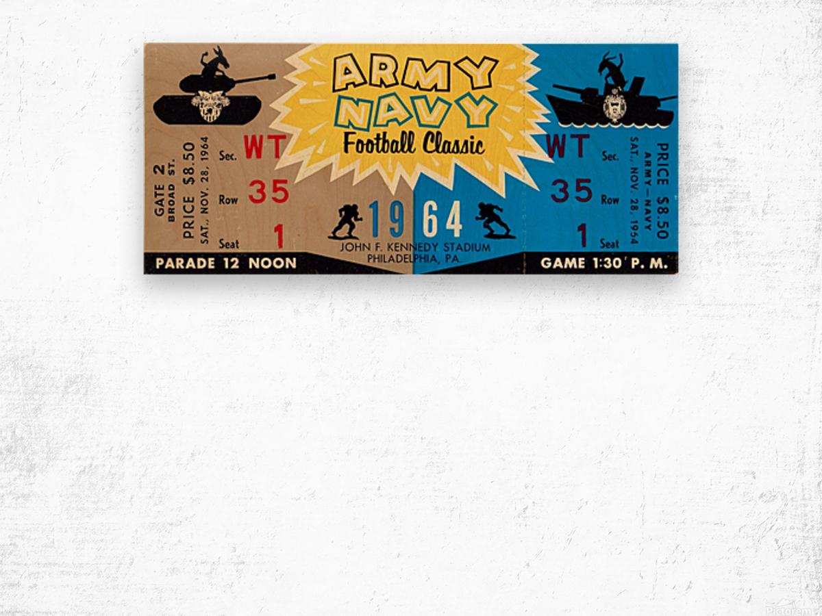 1964 Army vs. Navy Wood print
