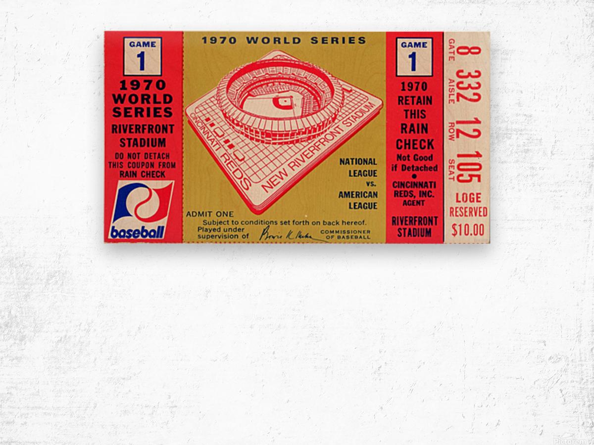 1970_Major League Baseball_World Series_Cincinnati Reds vs. Baltimore Orioles_Riverfront Stadium Wood print