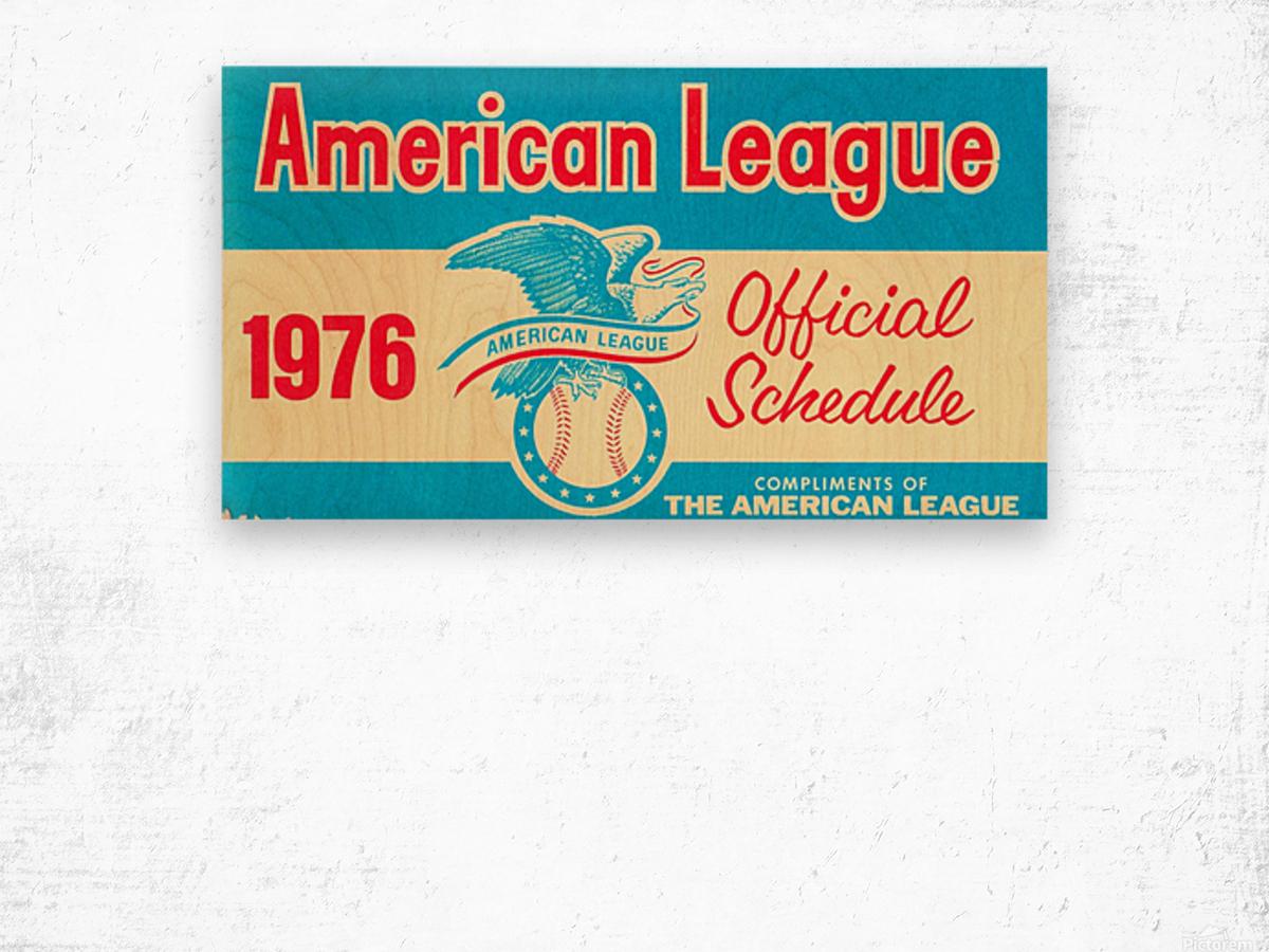 1976_Major League Baseball_American League Schedule_Row One Brand Wood print