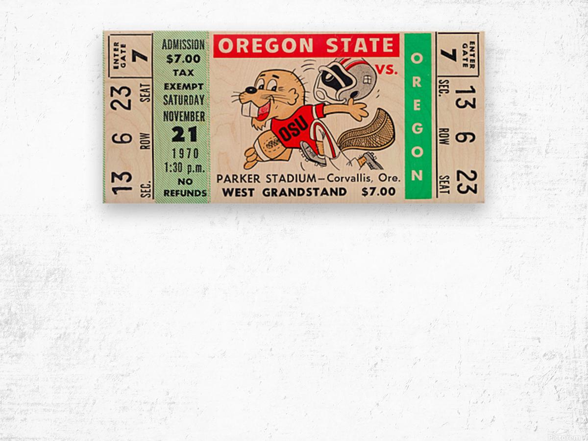 1970_College_Football_Oregon vs. Oregon State_Parker Stadium_Corvallis_Row One Brand Wood print