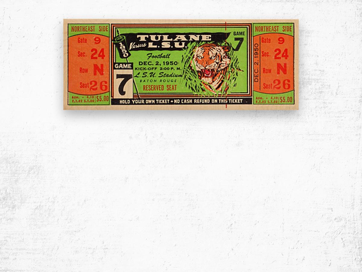 1950_College_Football_Tulane vs. LSU_Tiger Stadium_Baton Rouge_Row One Brand Wood print
