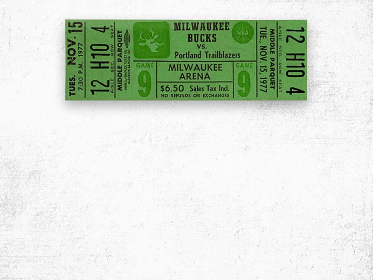 1977_National Basketball Association_Milwaukee Bucks_Row One Brand Wood print