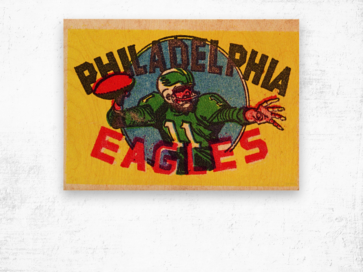 1970s_National Football League_Philadelphia Eagles_Row One Brand Wood print