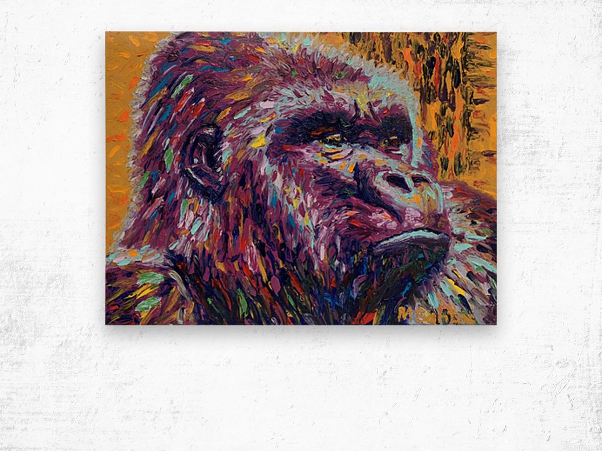 Gorilla Closeup Wood print