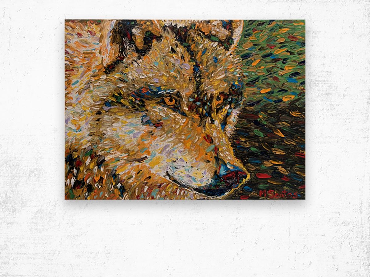 Wolf Closeup Wood print
