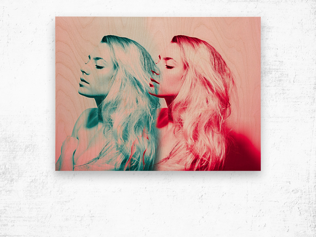 Double Vision Wood print