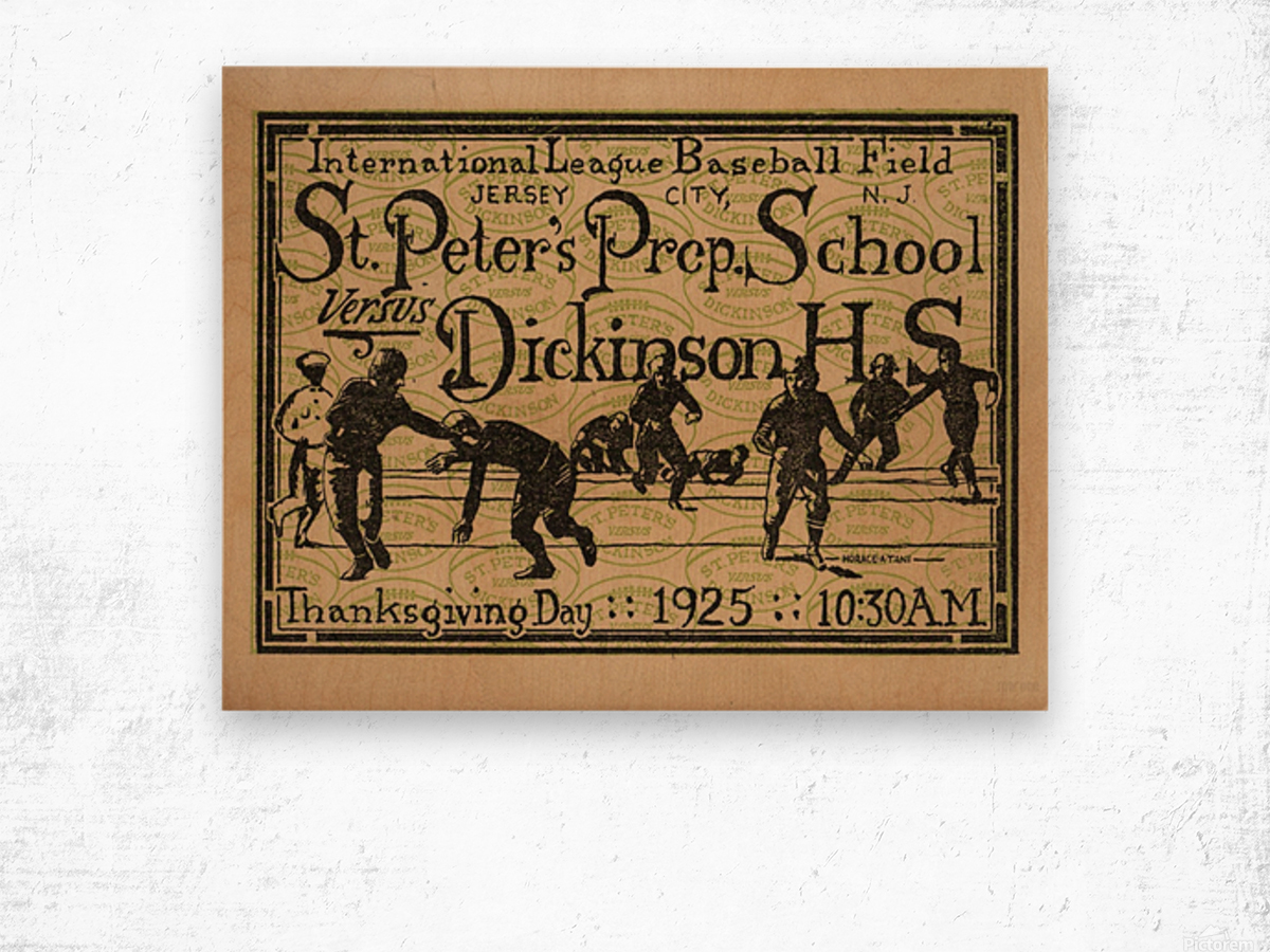 1925 St. Peters Prep Wood print