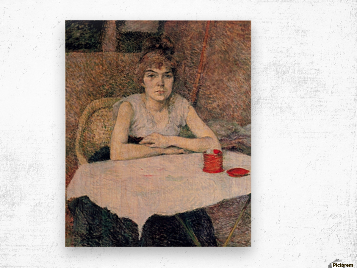Face powder by Toulouse-Lautrec Wood print