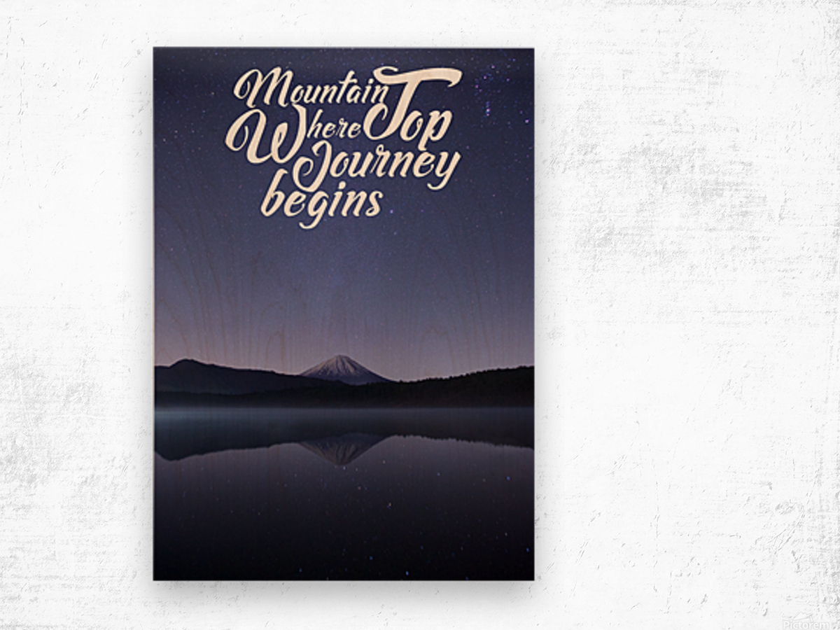 Mountain Top Journey Wood print