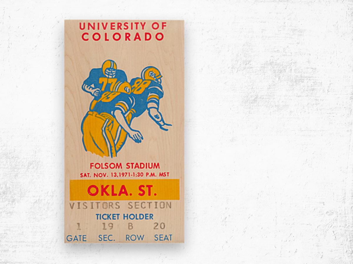 1971 Oklahoma State vs. Colorado Wood print