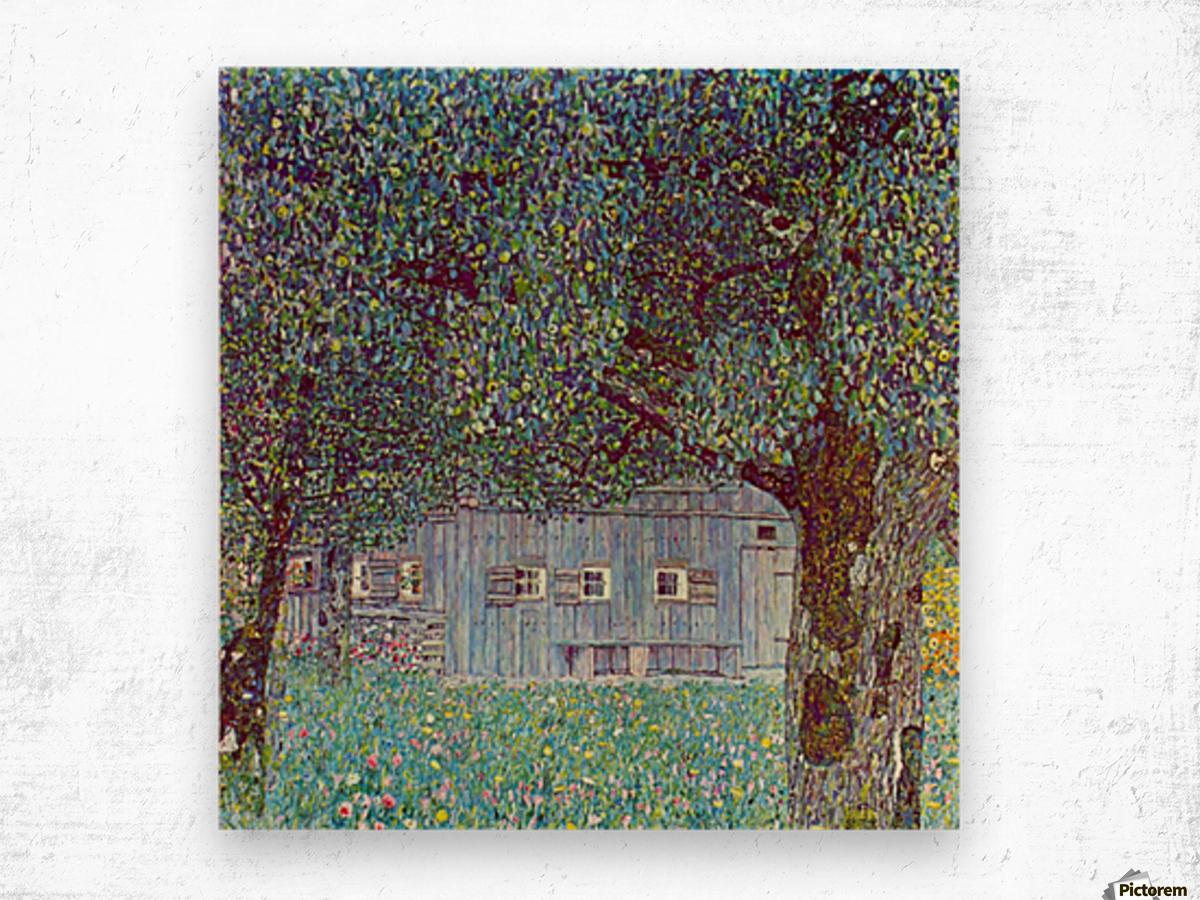 Farmhouse in Upper Austria by Klimt Wood print