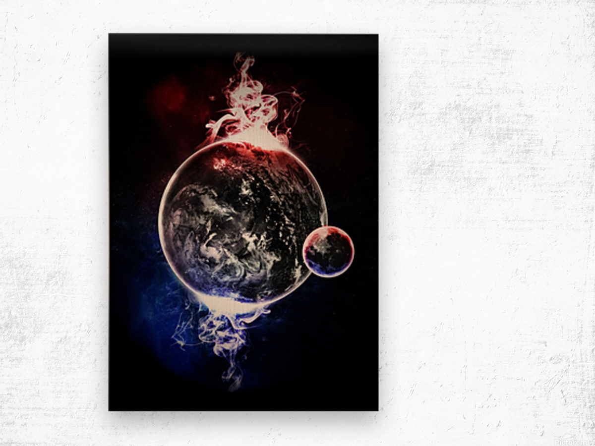 Earth Atmospheric Vapors Wood print