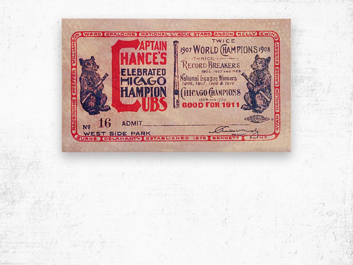 1911 Cubs Season Pass Wood print