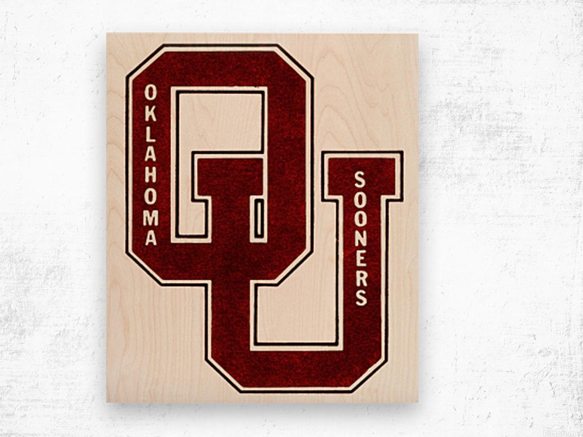 1960 OU Oklahoma Sooners art Wood print