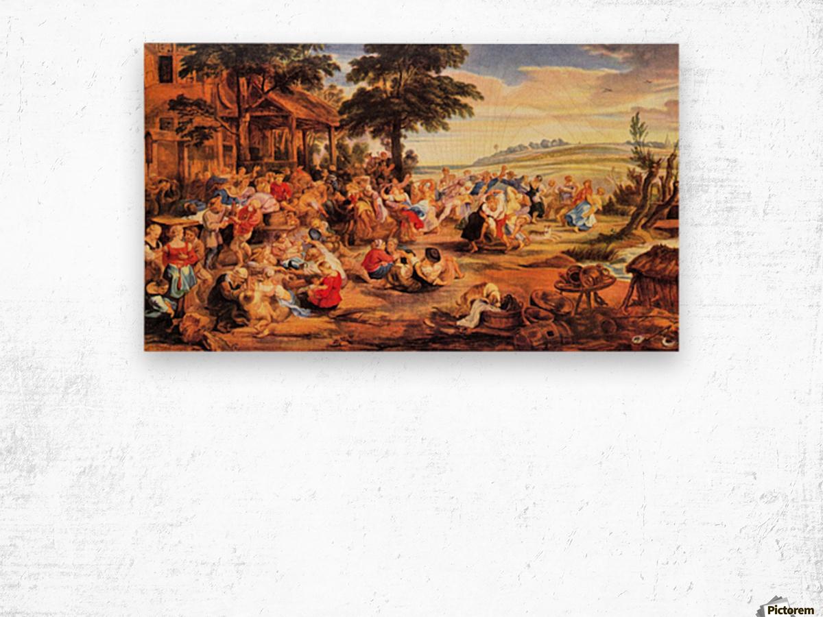 Flemish Kirmes by Rubens Wood print