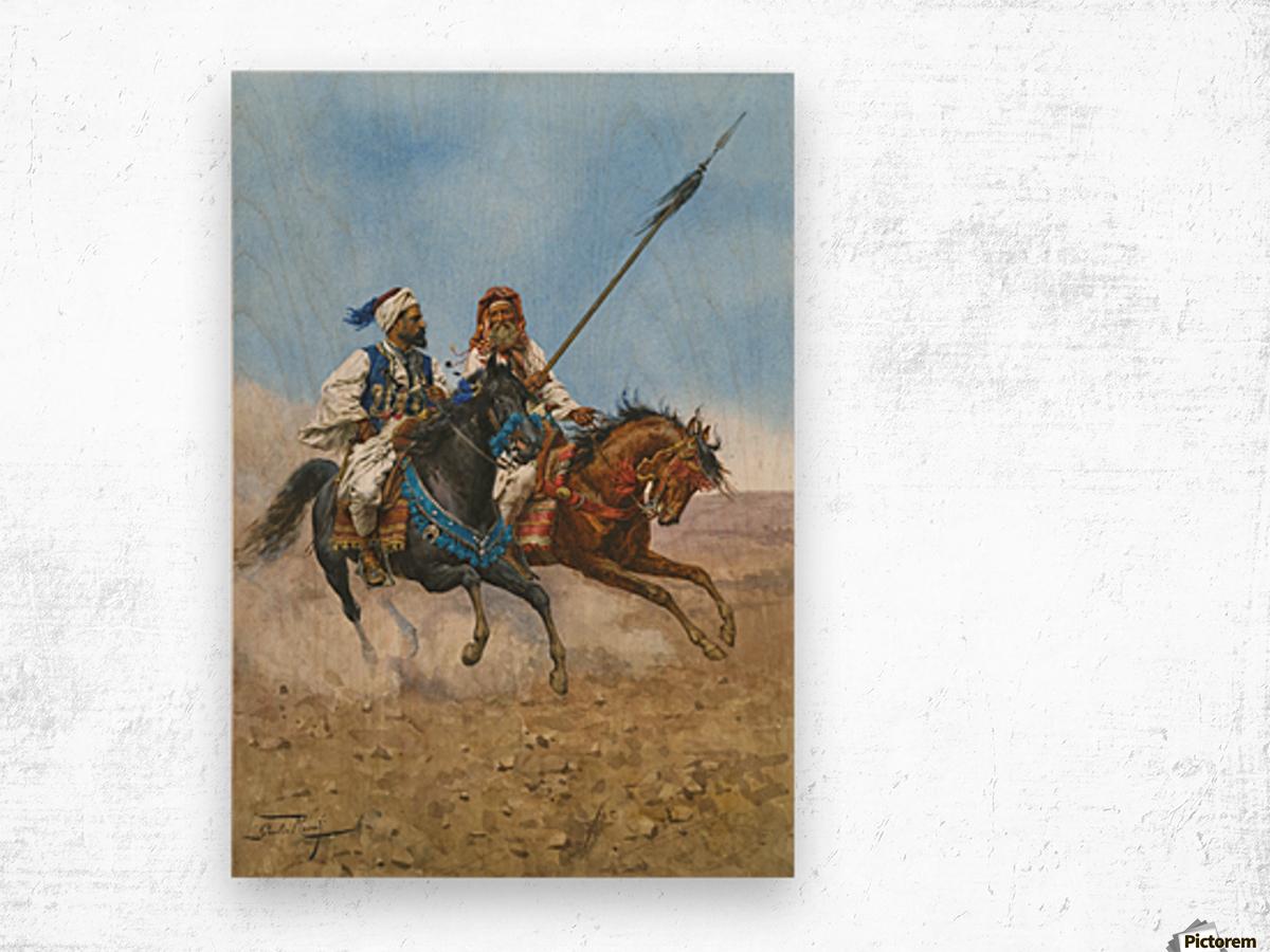 Arab riders Wood print