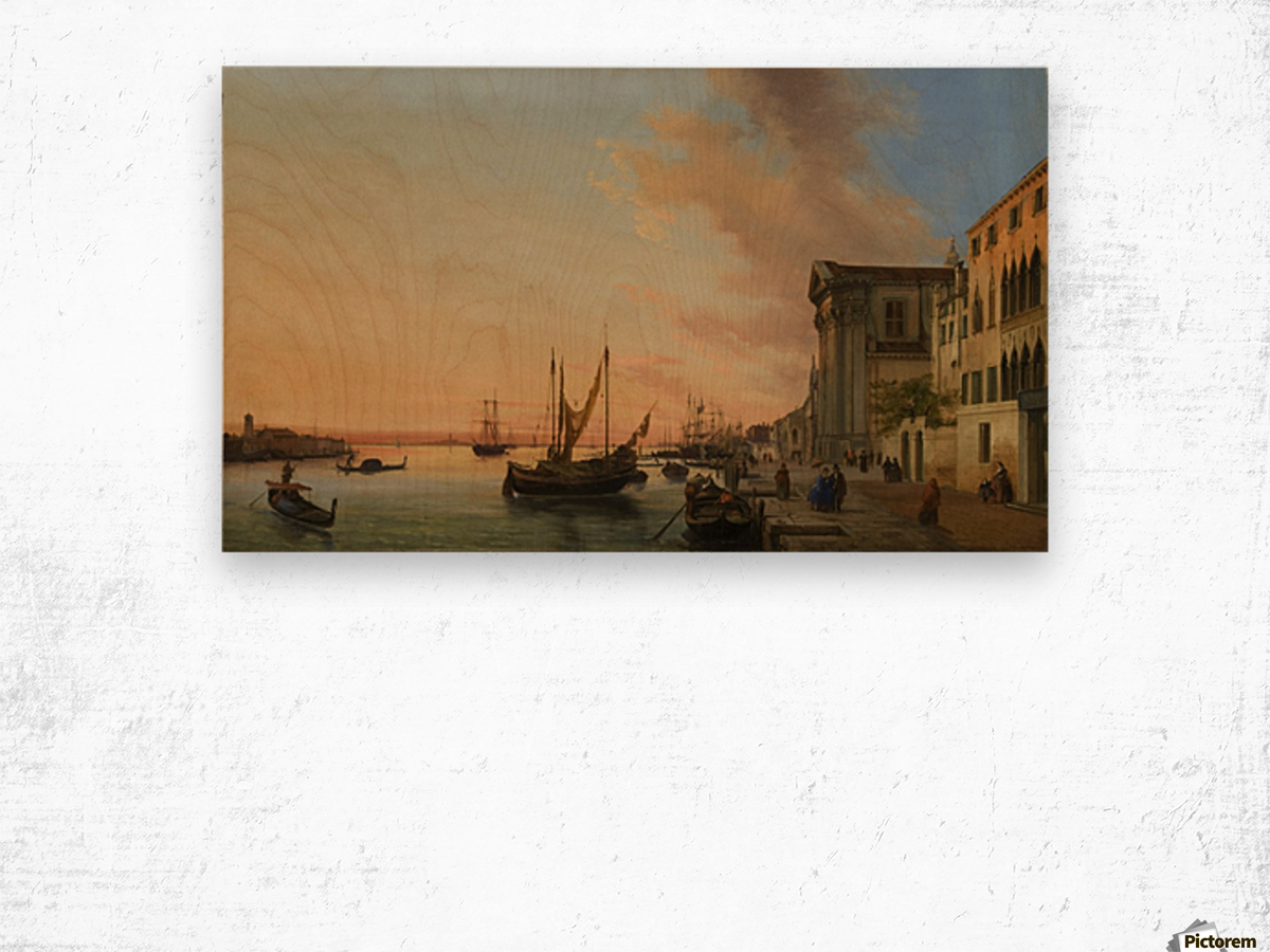 Venice Bay Wood print