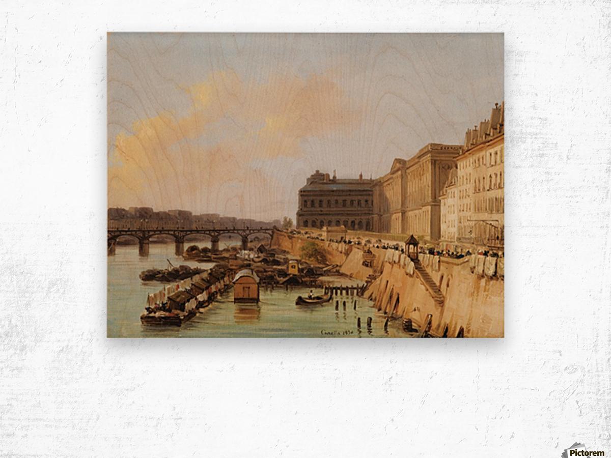 The Pont des Arts, Paris Wood print