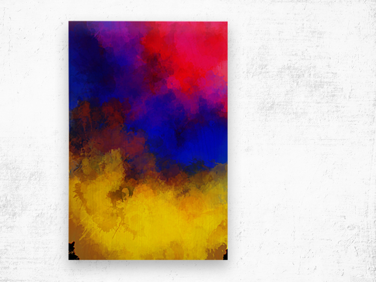 Primary Red Yellow Blue Impression sur bois