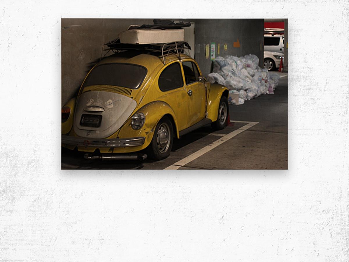Punch Buggy Yellow No Punchbacks Wood print