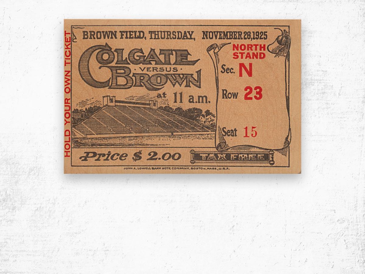 1925 Brown vs. Colgate Wood print