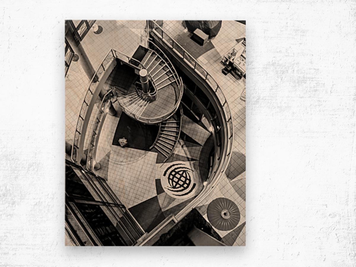 Fibonacci stairs Wood print