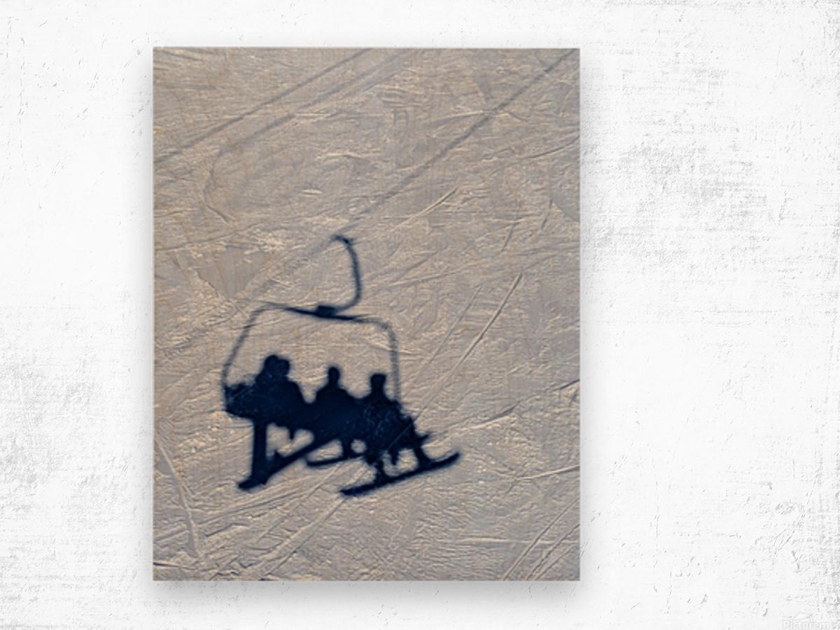 Lift chair Wood print