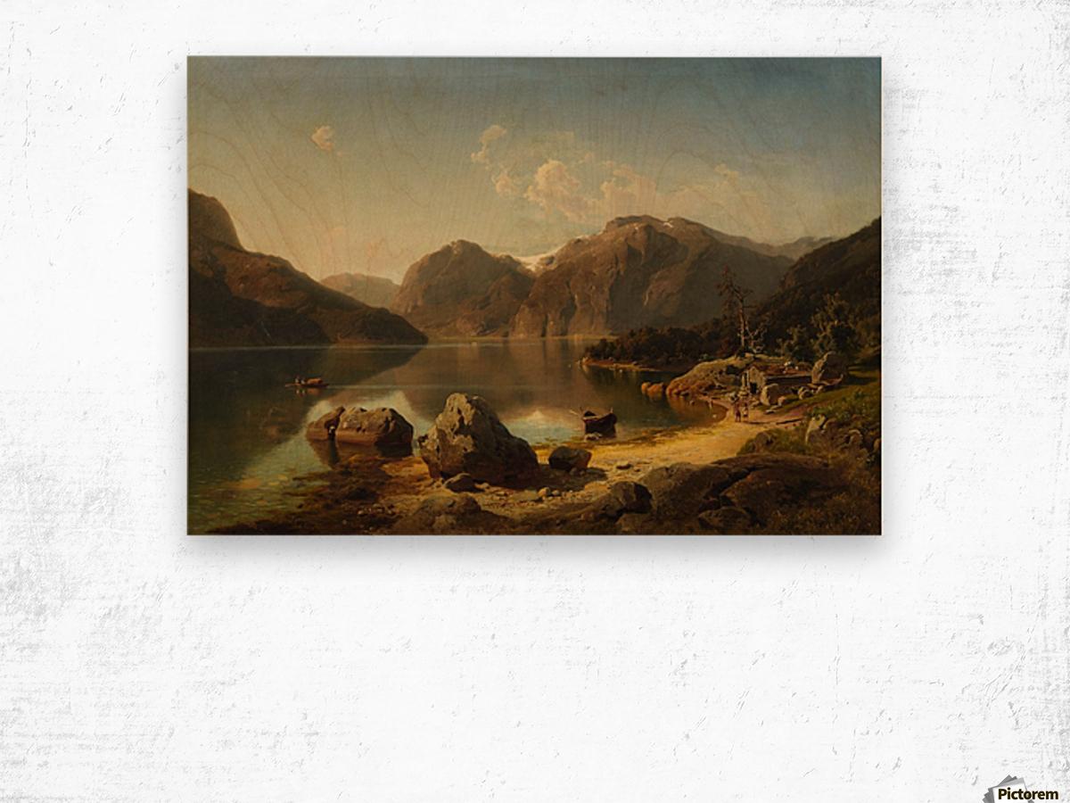 Norwegische Gebirgslandschaft am Morgen Wood print