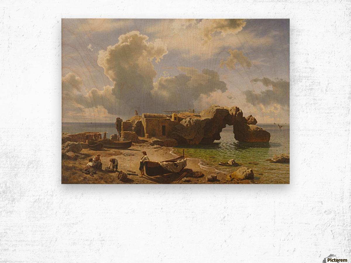 Marina Piccola Bay, Capri Wood print