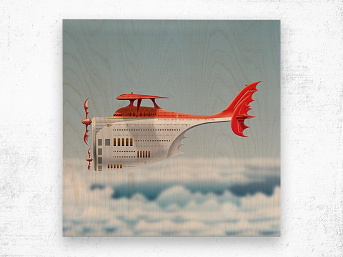 Avione Martellino Wood print