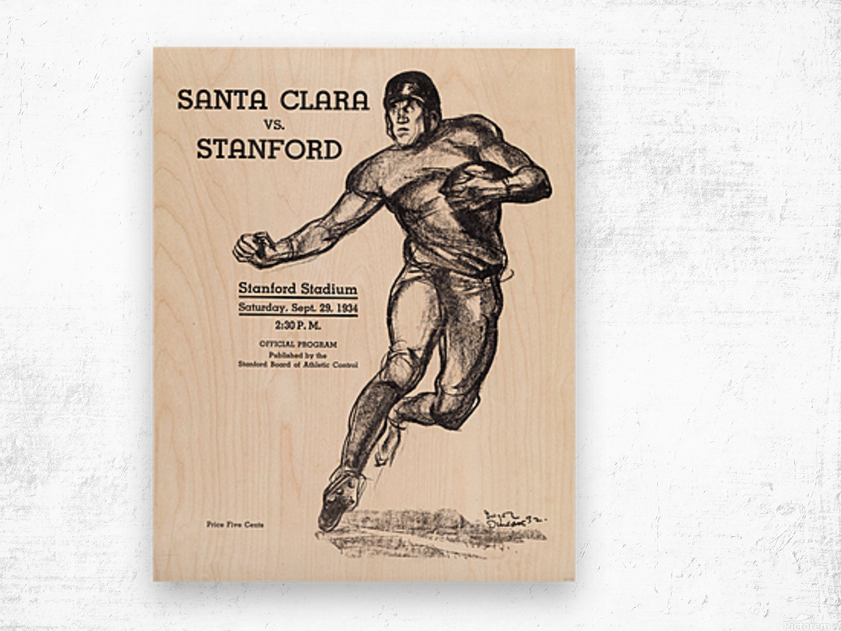 1934  Santa Clara vs. Stanford Wood print