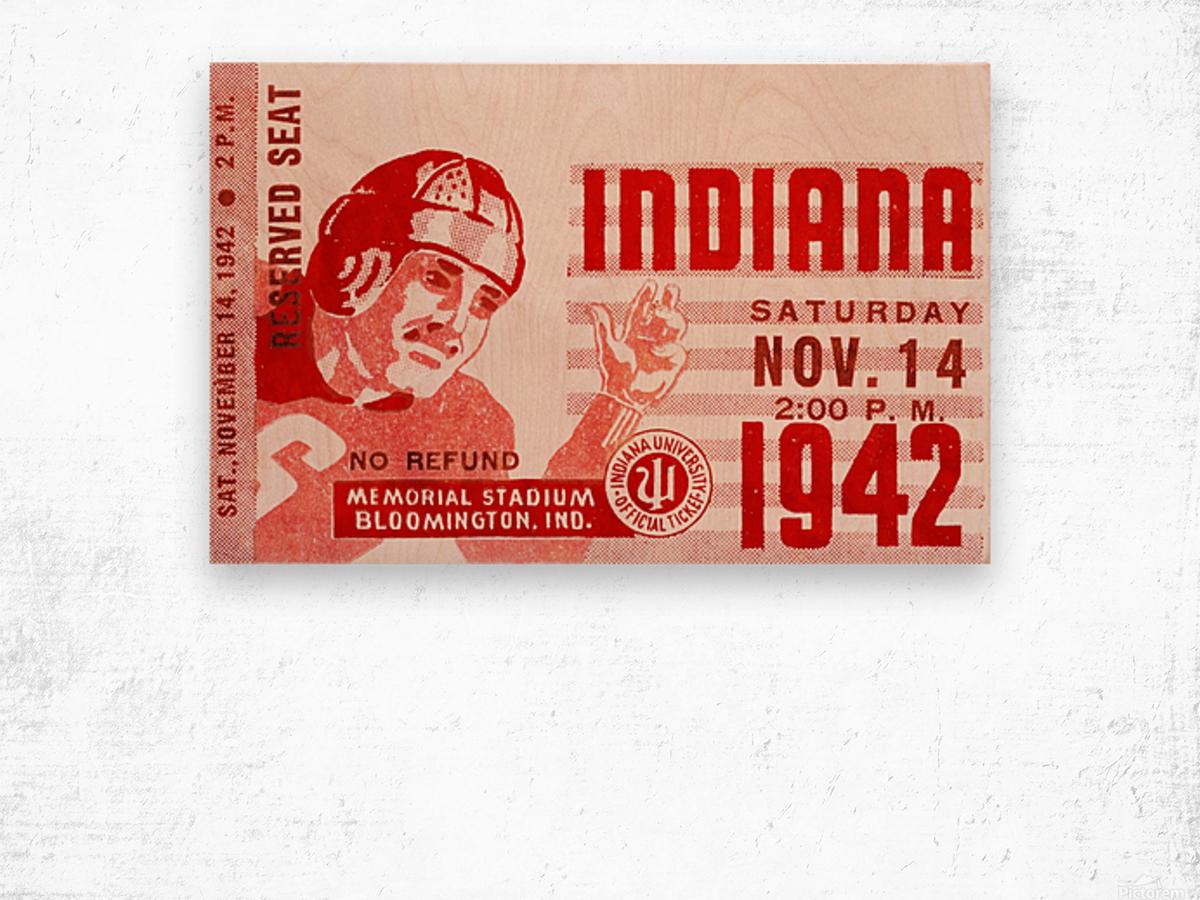 1942 Indiana Football Art Wood print