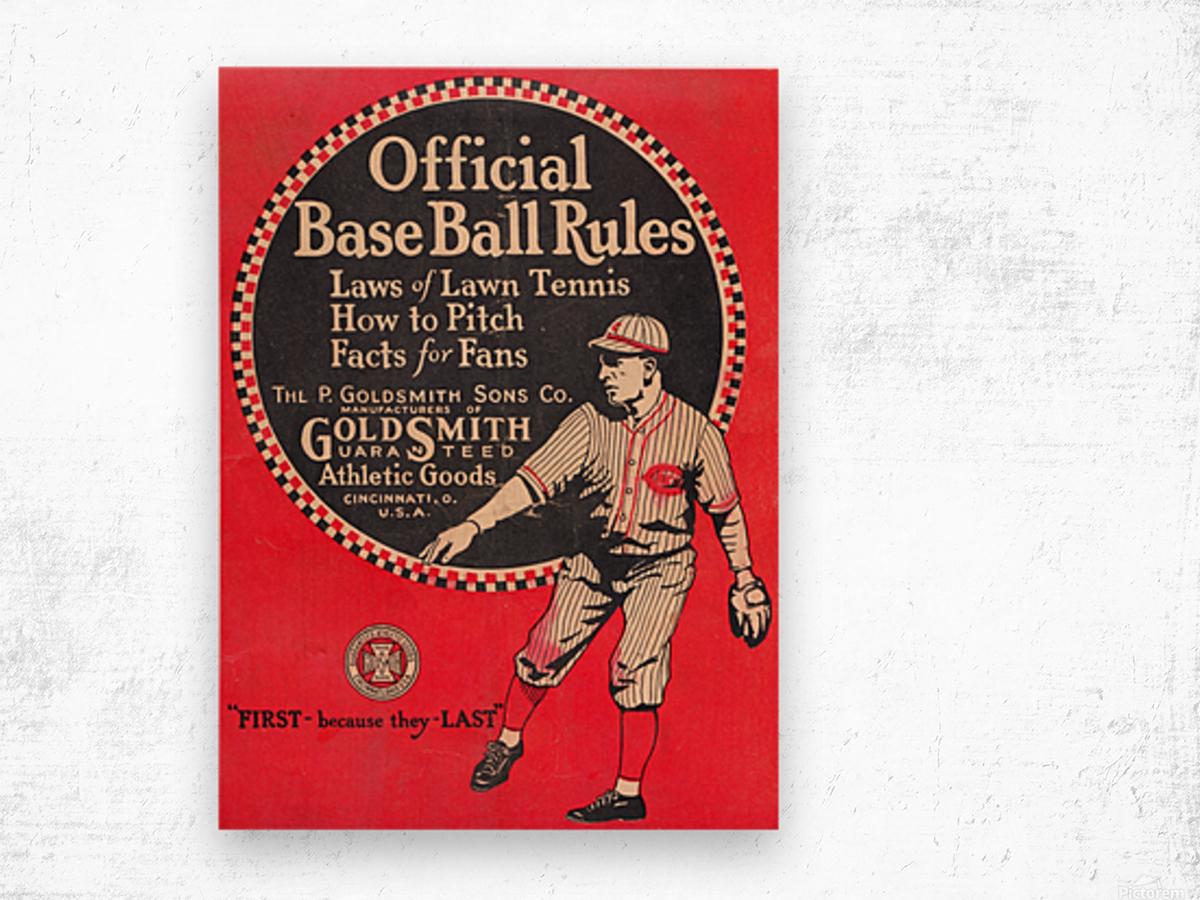 1925 Goldsmith Wood print